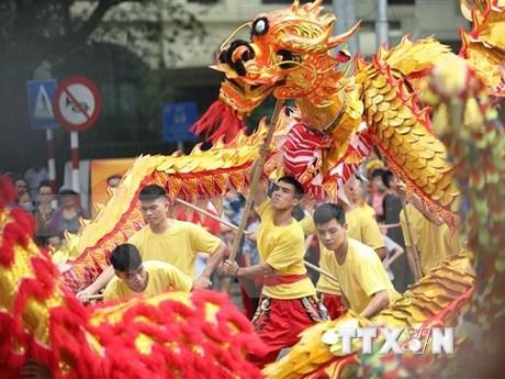 Festival de Danza del Dragon en saludo al 1010 aniversario de fundacion de Thang Long-Hanoi hinh anh 1