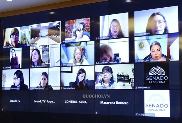 Parlamentarios de Vietnam y Argentina realizan intercambio virtual hinh anh 2