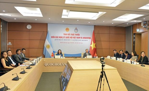 Parlamentarios de Vietnam y Argentina realizan intercambio virtual hinh anh 1