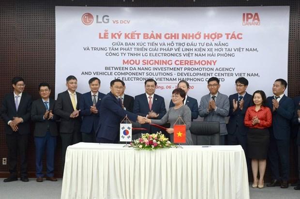 Ciudad de Da Nang coopera con Grupo LG en investigacion y desarrollo electronico hinh anh 1