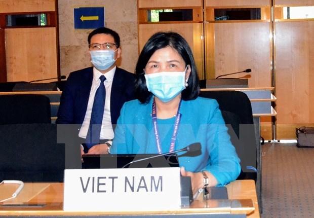 Vietnam participa activamente en el 45 periodo de sesiones del Consejo de Derechos Humanos de la ONU hinh anh 1