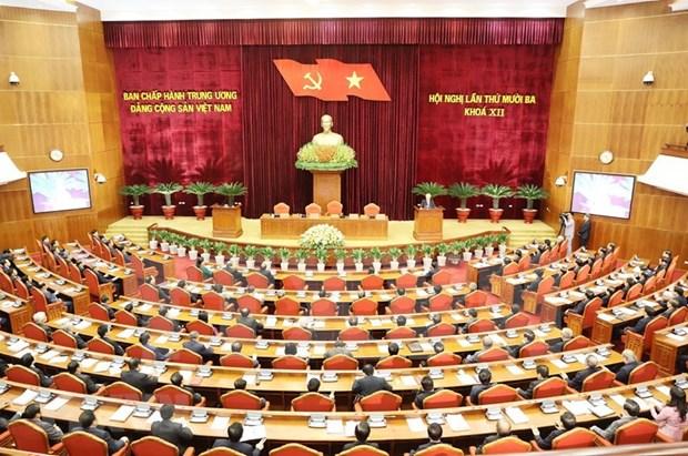 Comunicado de prensa de la sesion de clausura del XIII Pleno del Comite Central del PCV hinh anh 1