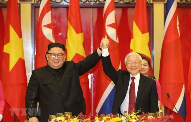 Maximo dirigente de Vietnam felicita al Partido del Trabajo de Corea por su 75 fundacion hinh anh 1