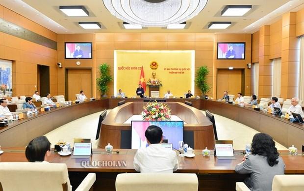 Celebraran 49 reunion del Comite Permanente de Asamblea Nacional de Vietnam hinh anh 1