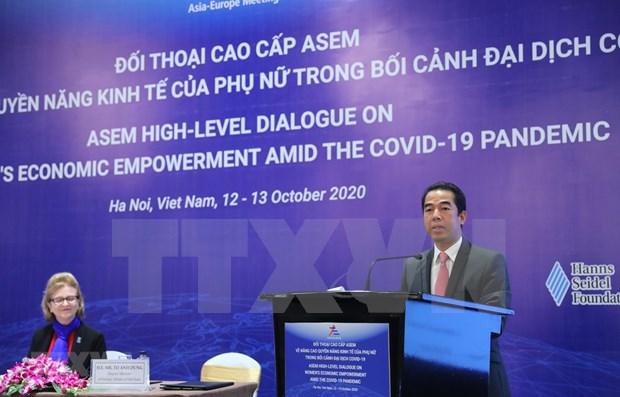 ASEM celebra dialogo sobre el empoderamiento economico de la mujer hinh anh 1