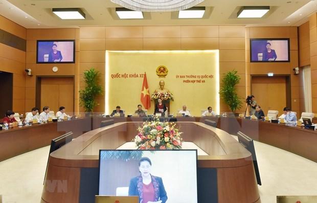 Comite Permanente de la Asamblea Nacional de Vietnam inaugura su 49 reunion hinh anh 1