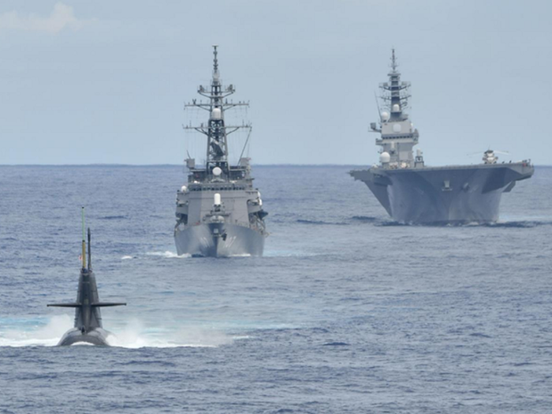 Llegan al puerto vietnamitas barcos de Fuerza de Autodefensa Maritima de Japon hinh anh 1