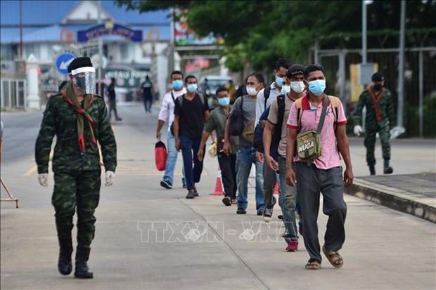 Tailandia refuerza el control de COVID-19 en 10 provincias fronterizas con Myanmar hinh anh 1