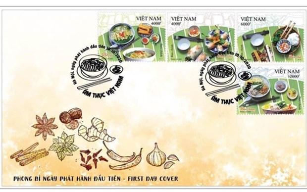 Lanzan conjunto de estampillas sobre gastronomia vietnamita hinh anh 1