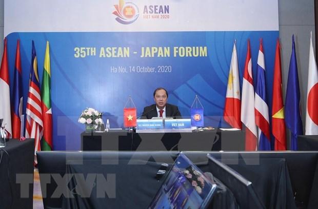 Vietnam preside el XXXV Foro ASEAN-Japon hinh anh 1
