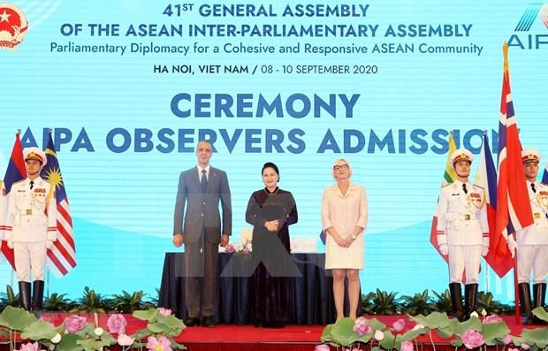 Dirigentes parlamentarios felicitan a Vietnam por el AIPA-41 hinh anh 1