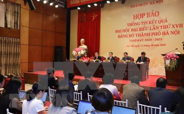 Concluye la XVII Asamblea del Comite partidista de Hanoi hinh anh 1