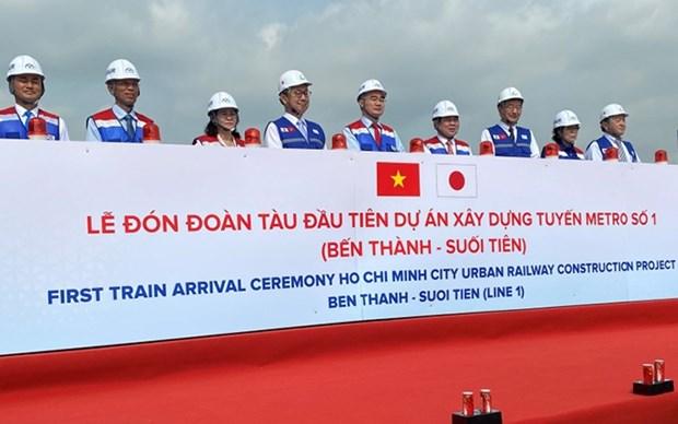Presentan en Ciudad Ho Chi Minh primer tren de la linea de metro hinh anh 1