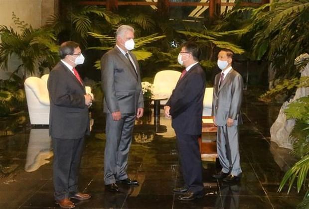 Presidente de Cuba elogia los nexos ejemplares con Vietnam hinh anh 1
