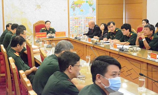 Medicina militar de Vietnam y Sudafrica amplian cooperacion en combate contra el COVID-19 hinh anh 1