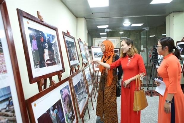 Inauguraran exposicion sobre la belleza de naciones y pueblos de la ASEAN en provincia vietnamita hinh anh 1
