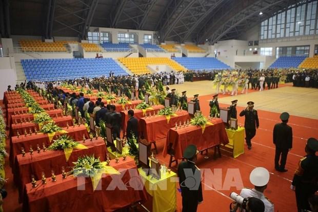 Realizan actos funebres de 22 soldados fallecidos por incidente en provincia vietnamita de Quang Tri hinh anh 1