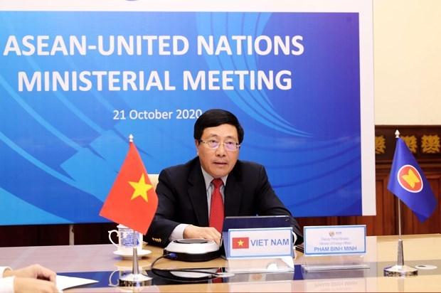 Vietnam preside Reunion Ministerial ASEAN-ONU hinh anh 1