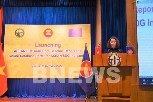 Divulgan informe de referencia sobre Objetivos de Desarrollo Sostenible de ASEAN hinh anh 1