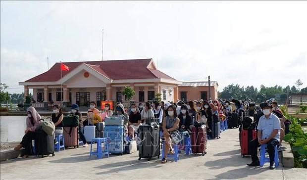 Mas de 200 vietnamitas cumplieron periodo de cuarentena en la provincia vietnamita de Long An hinh anh 1