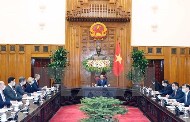Vietnam quiere promover la asociacion integral con Estados Unidos, afirma primer ministro hinh anh 1