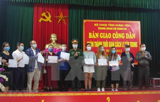 COVID-19: Vietnamitas que regresaron de EE.UU. concluyen periodo de cuarentena hinh anh 1