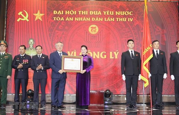 Presidenta del Parlamento vietnamita asiste al IV Congreso de Emulacion Patriotica del Tribunal Supremo Popular hinh anh 1