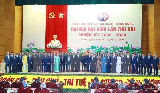 Concluyen XIII Congreso del Comite del Partido Comunista de Vietnam en en bloque de organos centrales hinh anh 1