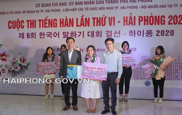 Concurso de idioma coreano en Hai Phong hinh anh 1