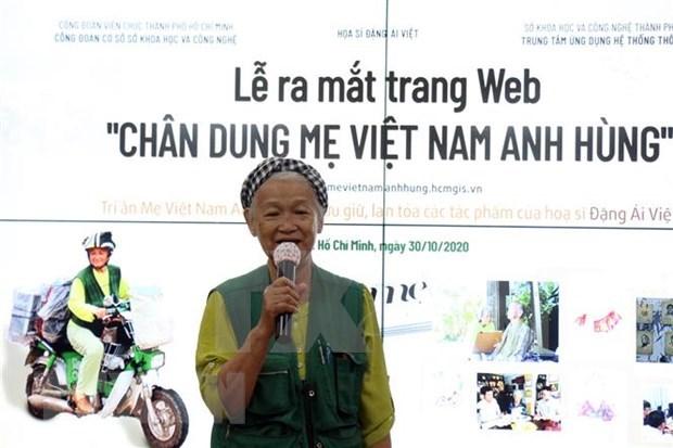 Lanzan sitio web con mas de dos mil retratos de las Madres Heroicas Vietnamitas hinh anh 1