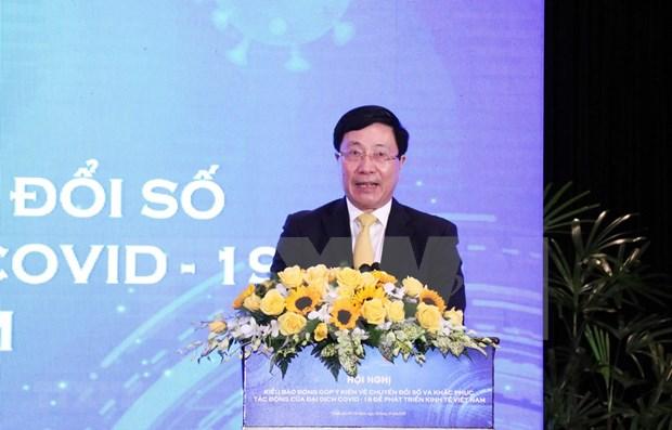 Discuten en Vietnam transformacion digital y superacion del impacto de COVID-19 hinh anh 1