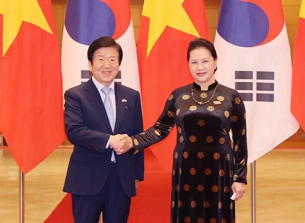 Dirigentes parlamentarios de Vietnam y Corea del Sur expresan disposicion de fortalecer relaciones hinh anh 1