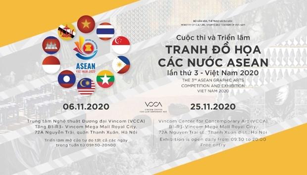 Presentaran en Vietnam obras graficas de artistas de la ASEAN hinh anh 1