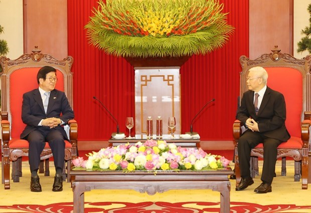 Maximo dirigente de Vietnam recibe a presidente de la Asamblea Nacional de Corea del Sur hinh anh 1