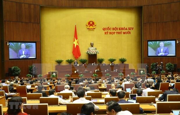 Cierra Parlamento de Vietnam segunda jornada presencial de X periodo de sesiones hinh anh 1