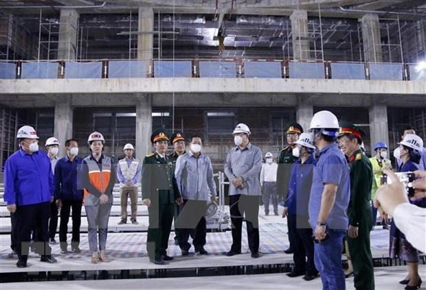 Revisan construccion de sede de la Asamblea Nacional de Laos hinh anh 1