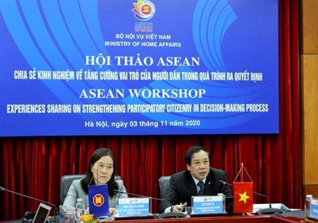 ASEAN comparte experiencias para aumentar participacion ciudadana en la toma de decision hinh anh 1