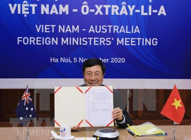 Efectuan II Reunion de Relaciones Exteriores Vietnam-Australia hinh anh 1