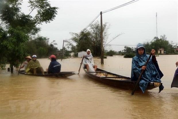 Telegramas internacionales expresan condolencias por damnificados en el centro de Vietnam hinh anh 1