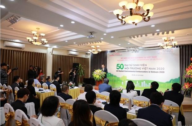 """Inauguran proyecto """"50 estudiantes embajadores ambientales en Vietnam 2020"""" hinh anh 1"""