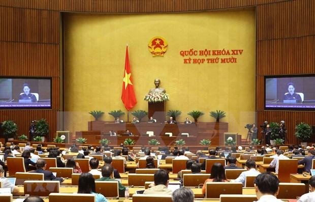 Proseguira la Asamblea Nacional de Vietnam sesiones de interpelaciones y trabajos del personal hinh anh 1