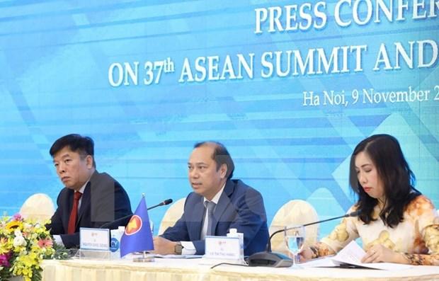 Efectuaran XXXVII Cumbre de ASEAN y citas relacionadas de forma virtual hinh anh 1