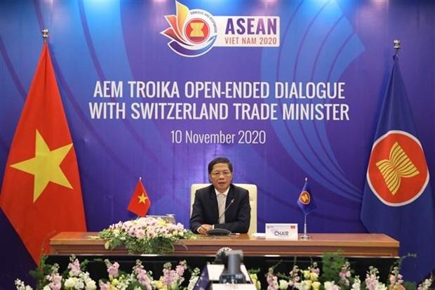ASEAN y Suiza se comprometen a mejorar lazos economicos hinh anh 1