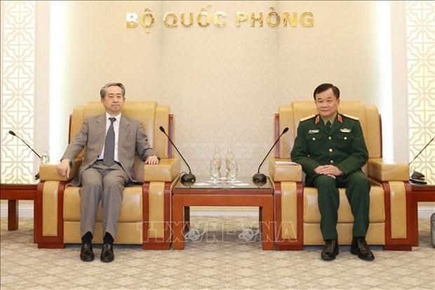 Viceministro de Defensa de Vietnam recibe al embajador chino hinh anh 1