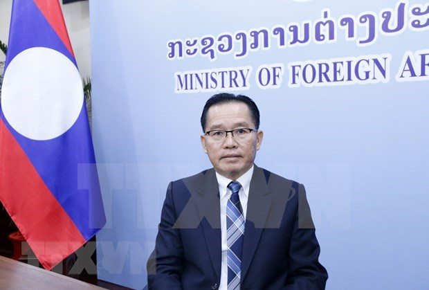 Felicita Laos a Vietnam por exitoso mandato presidencial de ASEAN hinh anh 1