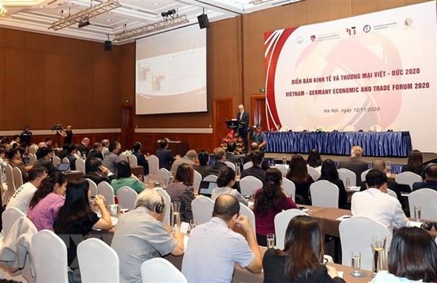 Efectuan Foro de Economia y Comercio Vietnam-Alemania hinh anh 1