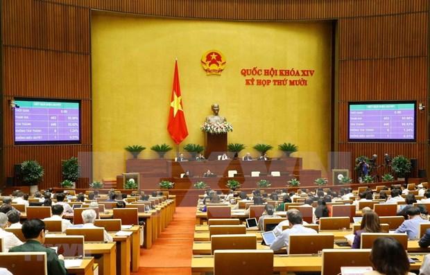 Parlamento de Vietnam aprueba enmiendas de dos leyes hinh anh 1