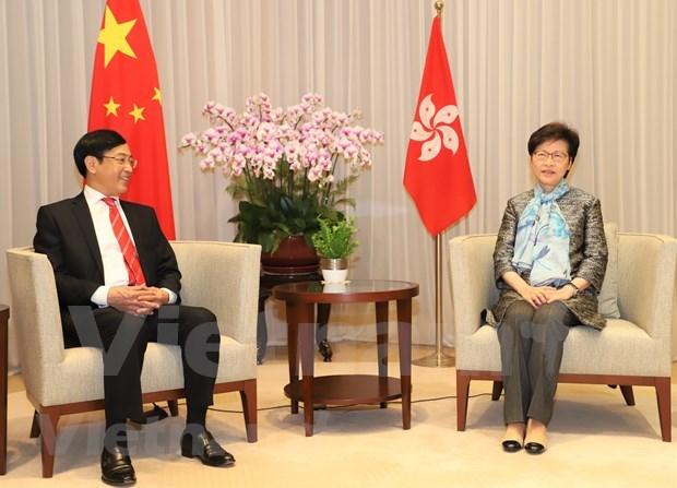 Robustecen cooperacion entre localidades de Vietnam y Hong Kong (China) hinh anh 1