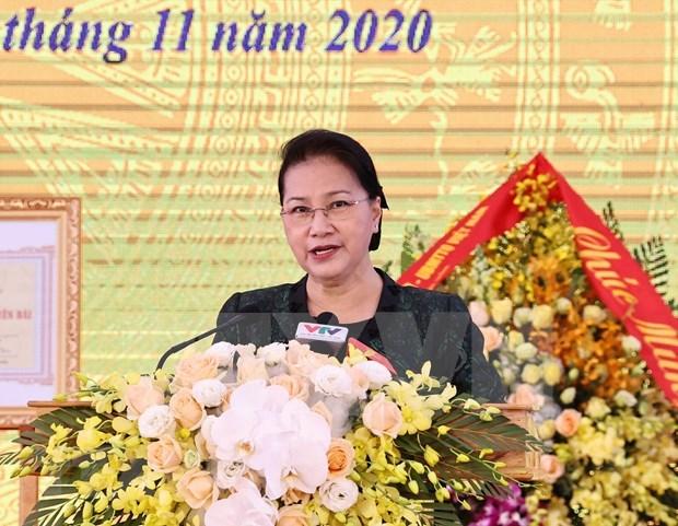 Presidenta del Parlamento participa en Festival de Gran Unidad Nacional en provincia de Yen Bai hinh anh 1