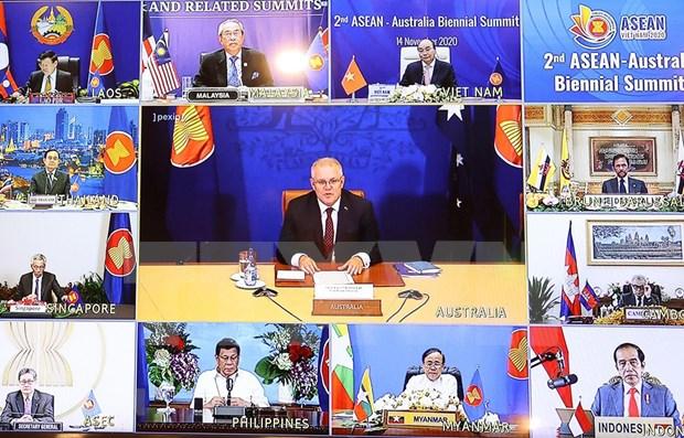 Efectuan segunda Cumbre ASEAN-Australia en linea hinh anh 1